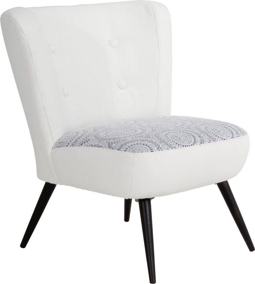 MAX WINZER® fauteuil met hoes Nikki, in retro-look, met sierlijk haakmotief