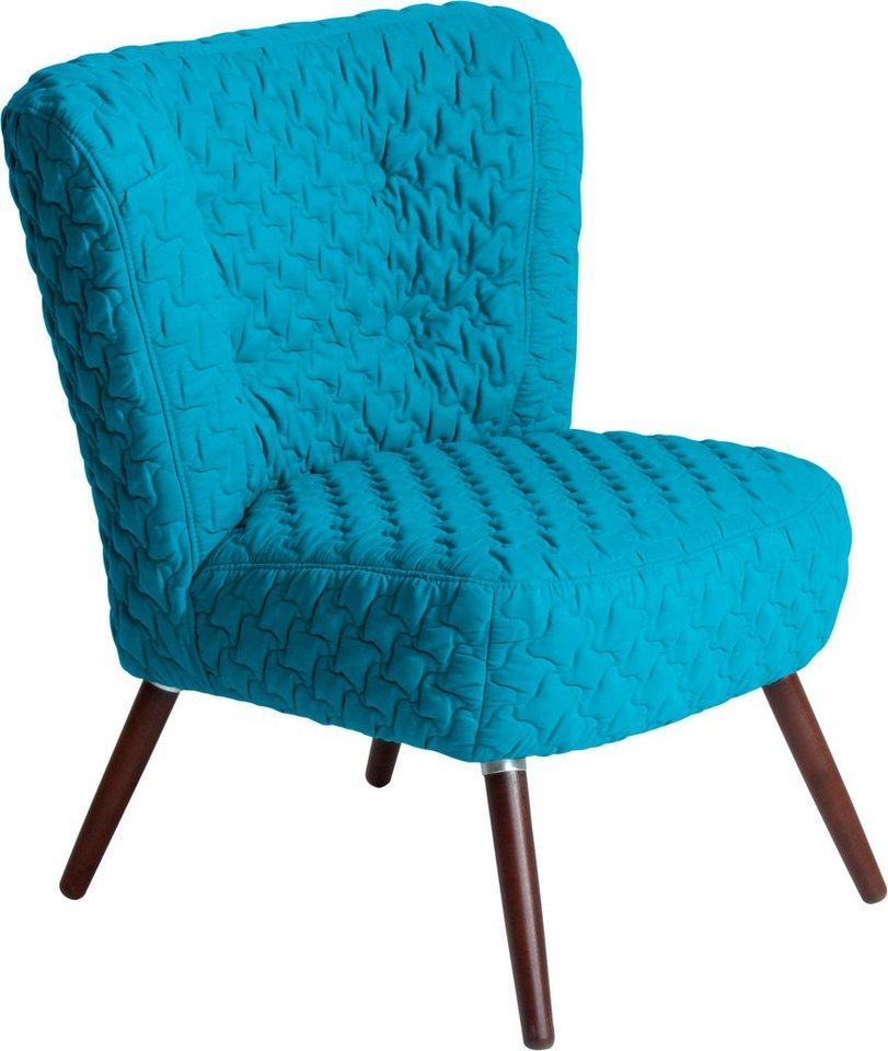 MAX WINZER® fauteuil met hoes Nikki, in retro-look, met doorgestikte overtrekstof