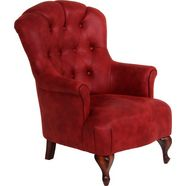 max winzer chesterfield-fauteuil »clara«, met chique capitonnage rood