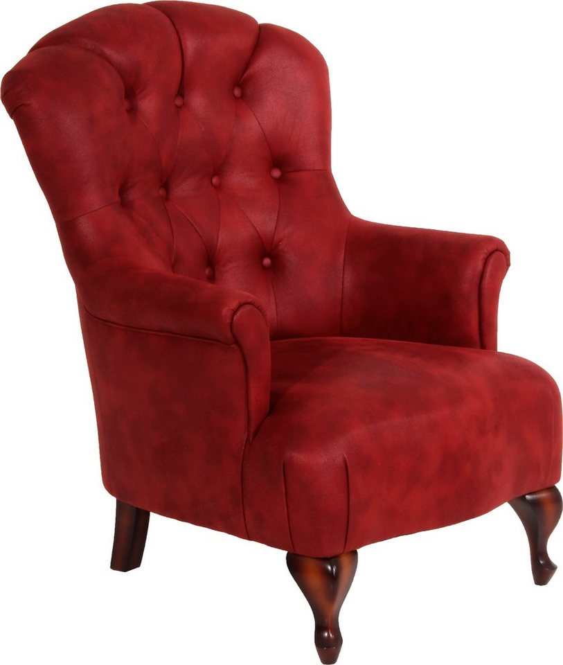 MAX WINZER® chesterfield-fauteuil Clara, met chique capitonnage