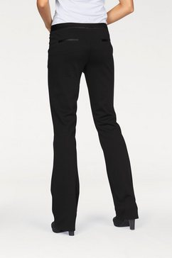 bruno banani bootcut-broek in elastische kwaliteit zwart