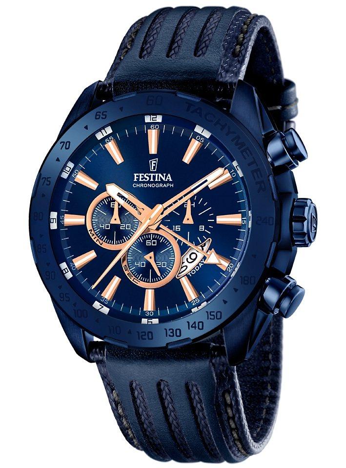 Festina chronograaf met twee tijdzones, »F16898/1«