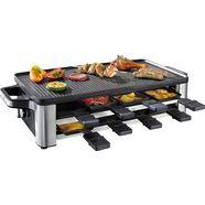 wmf raclette lono, 8 raclettepannetjes, 1500 watt zilver