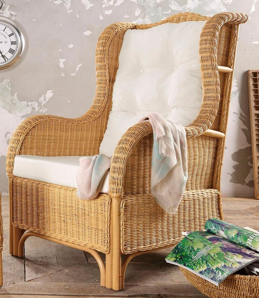 HOME AFFAIRE Oorfauteuil van rotan