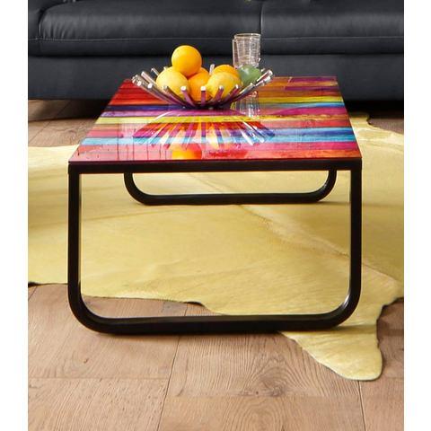 INOSIGN Salontafel met blad in regenboogdesign