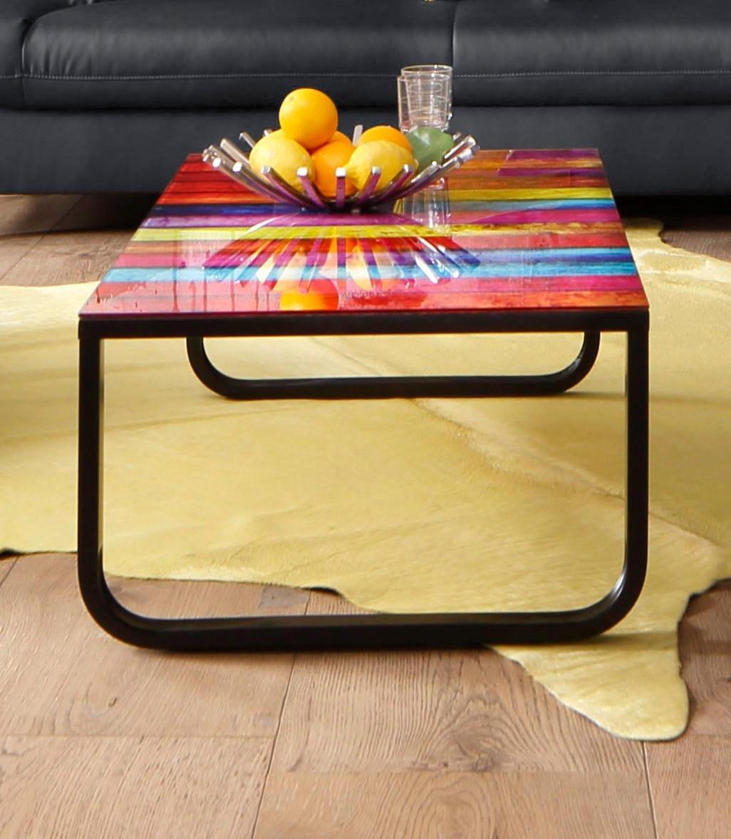 Inosign Salontafel met blad in regenboogdesign bij OTTO online kopen