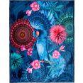 hip plaid ofelia met mandala's en bloemen blauw