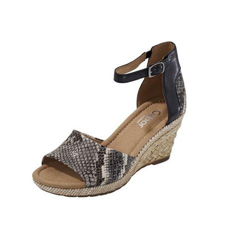Schoen: Sandaaltjes met sleehak van GABOR