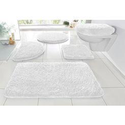 badmat »sanremo«, my home, hoogte 30 mm, met antislip-coating, geschikt voor vloerverwarming wit