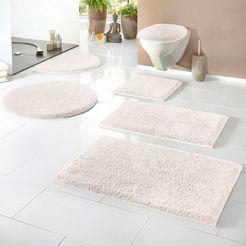 badmat »maren«, home affaire, hoogte 15 mm, met antislip-coating, geschikt voor vloerverwarming beige
