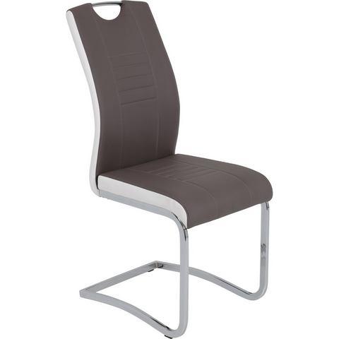 Eetkamerstoelen INOSIGN Vrijdragende stoel van imitatieleer 609813