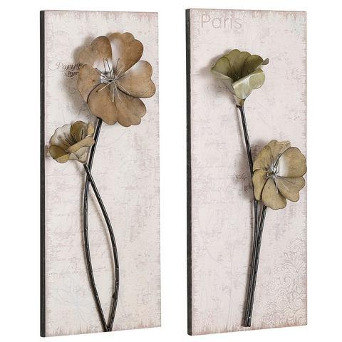 Wanddecoratie Used-look in 2-delige set