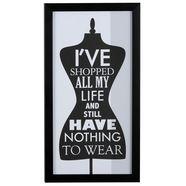 leonique ingelijste artprint »kleermakersbuste met shopping issue«, 23x43 cm zwart
