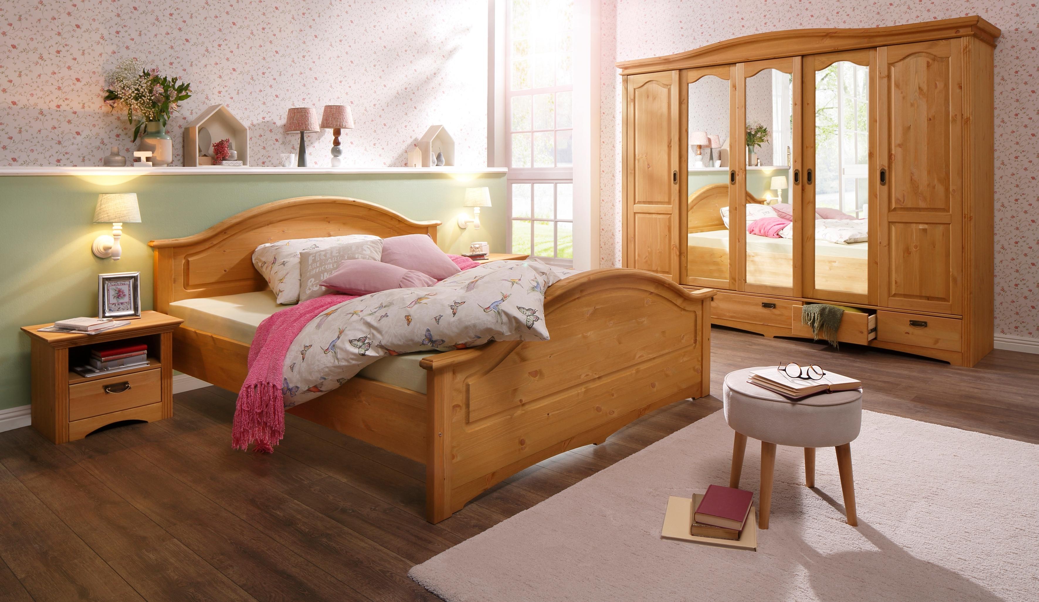 Home affaire slaapkamerserie Konrad met 5-deurs kledingkast, bed 180x200 cm en 2 nachtkastjes (set, 5 stuks) veilig op otto.nl kopen