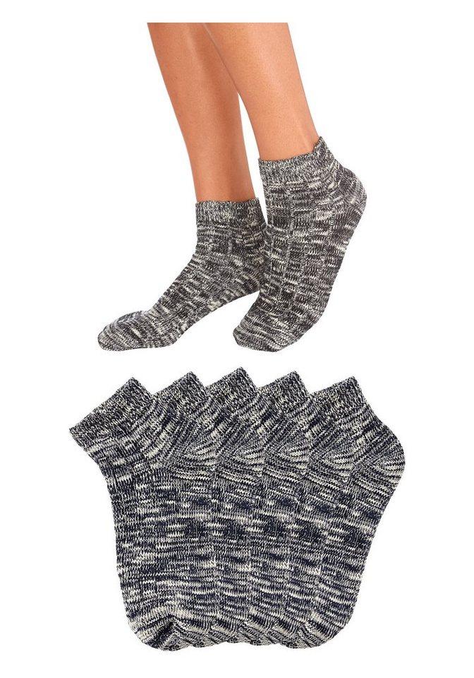 ARIZONA Korte sokken van slubgaren 5 paar