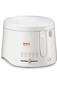 tefal friteuse maxifry ff1000 inhoud voor 1,2 kg, afneembare, vaatwasserbestendige deksel wit