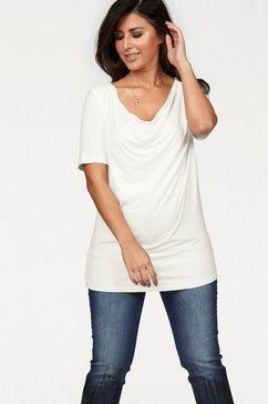 Shirt met cascadehals