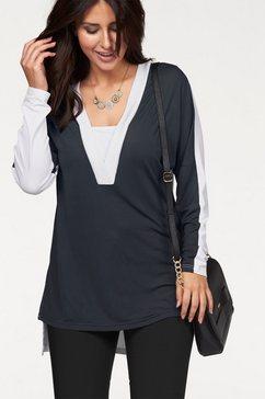 Tuniekshirt in contrast-look