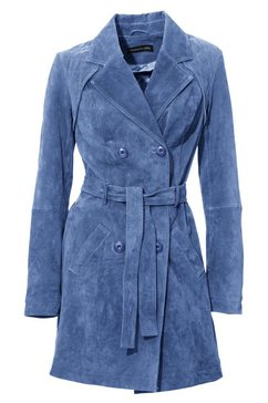 leren mantel blauw