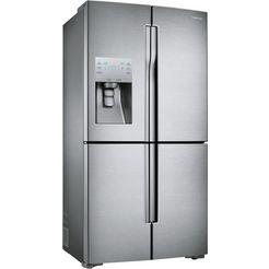 samsung side-by-side-koelkast, 182,5 cm hoog, 90,8 cm breed zilver
