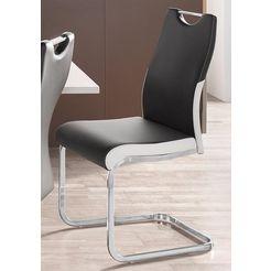 vrijdragende stoel in set van 2 of 4 zwart