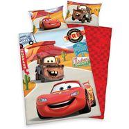disney kinderovertrekset cars on road met auto's (2-delig) rood