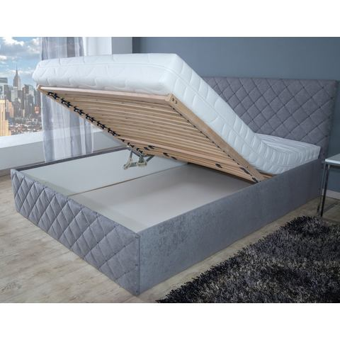 WESTFALIA POLSTERBETTEN Bed in 4 breedten alleen Bedframe grijs Westfalia Polsterbetten 309033