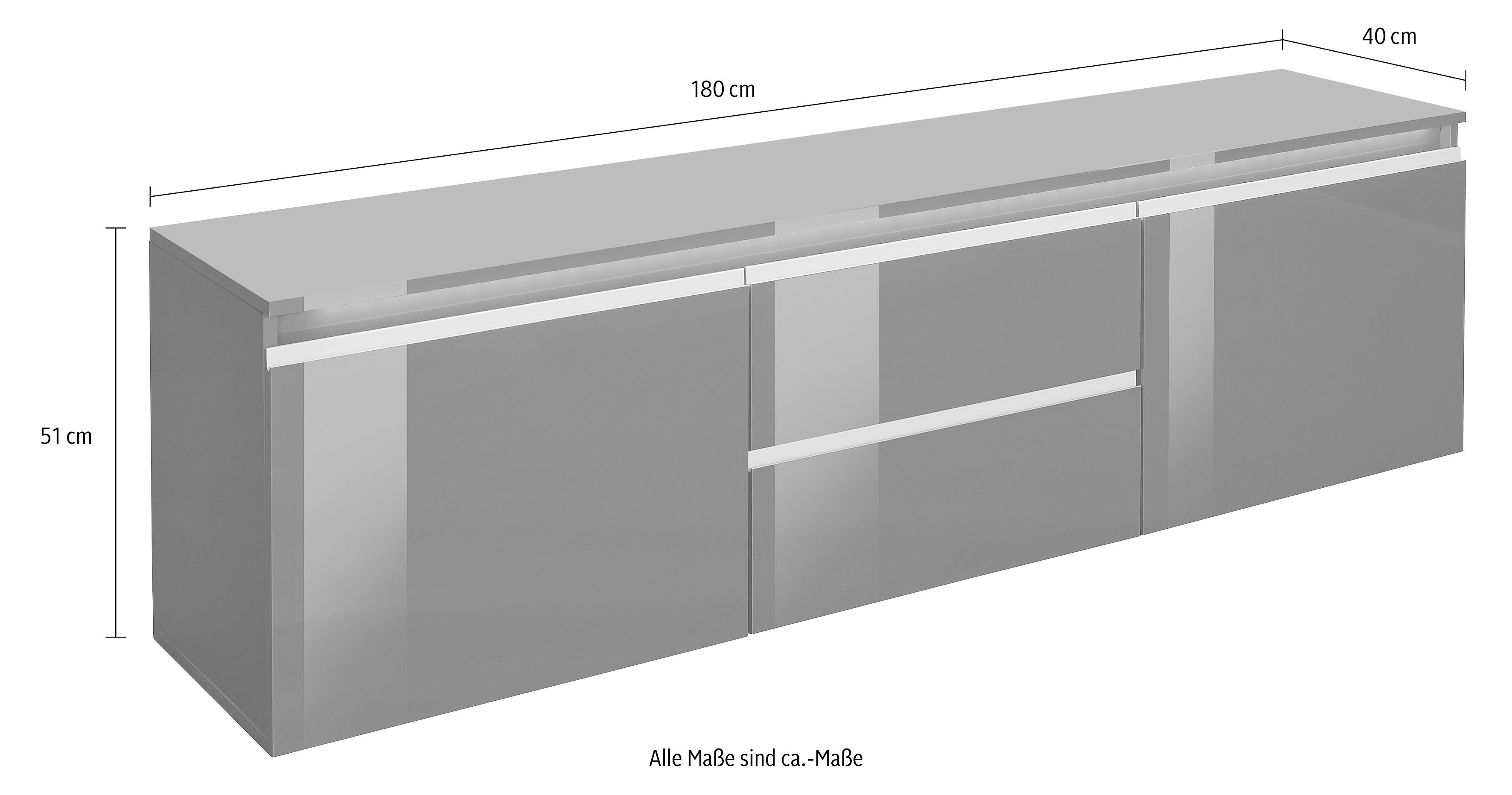 tecnos lowboard breedte 180 cm makkelijk besteld otto. Black Bedroom Furniture Sets. Home Design Ideas
