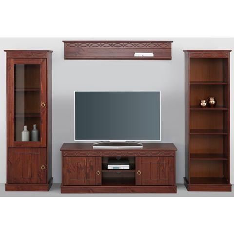 home affaire tv wandkast indra 4 delig koloniaalkleur 100. Black Bedroom Furniture Sets. Home Design Ideas