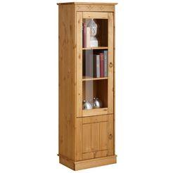 home affaire vitrinekast »indra« (1-deurs), hoogte 145 cm beige