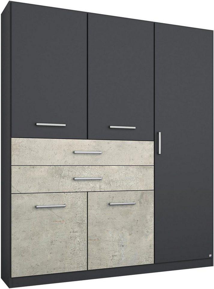 RAUCH Garderobekast met garneringen in beton-look