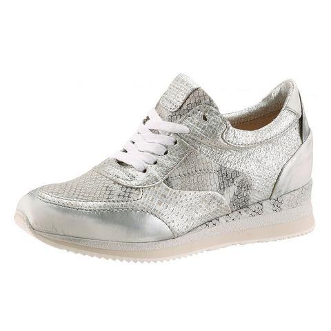 Schoen: I'M WALKING Veterschoenen met metallic-inzetten