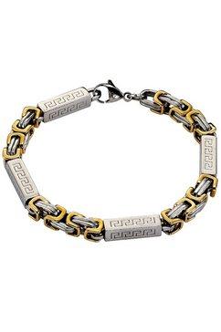 firetti armband met fantasieschakels en meandermotief zilver