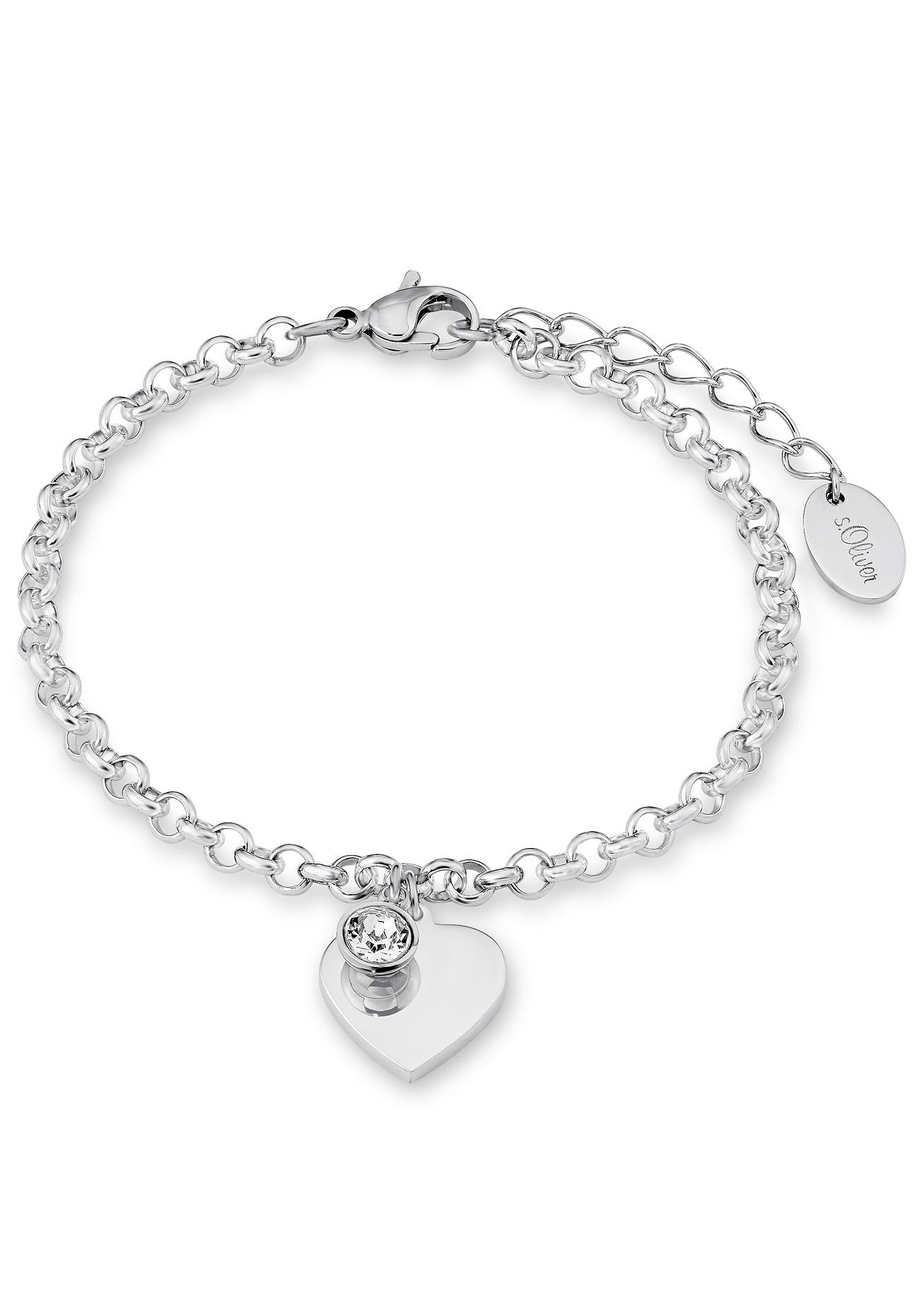 s.Oliver RED LABEL S.OLIVER armsieraad: armband met Swarovski®-kristal, »hart, SO1346/1« in de webshop van OTTO kopen