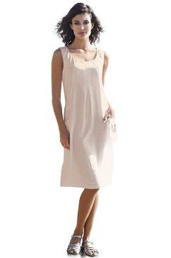 linnen jurk beige