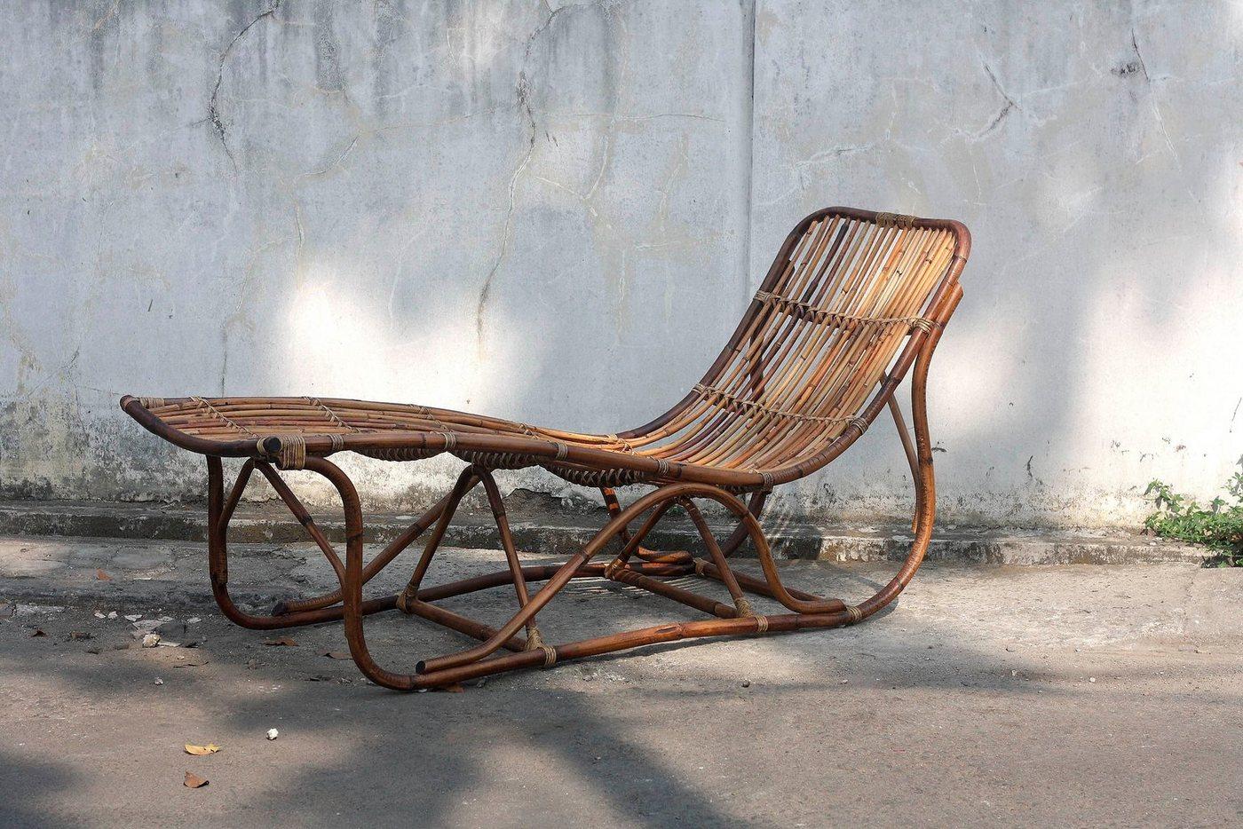 SIT relax ligstoel Vintage, van onbehandelde rotan