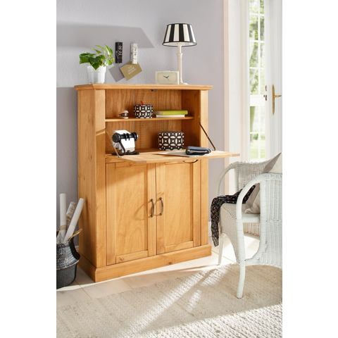 HOME AFFAIRE secretaire Mika breedte 88 cm geloogd geolied 3