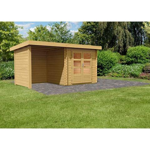 KONIFERA complete set: Tuinhuisje Ringk�bing 2, met aanbouw/wanden