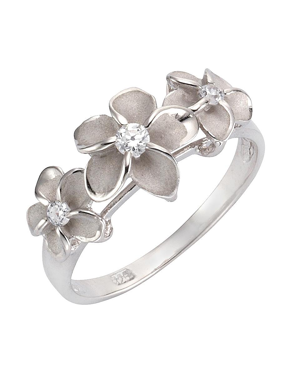 Firetti zilveren ring Bloem/bloem met zirkoon nu online kopen bij OTTO