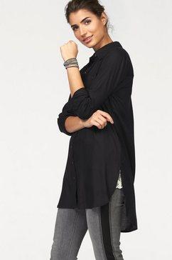 boysen's blouse in lang model zwart