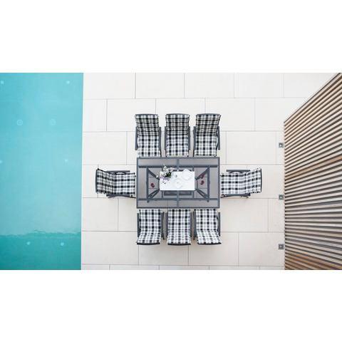 Tuinmeubelset Montreal, 17-dlg., tafel 240x110 cm, antraciet