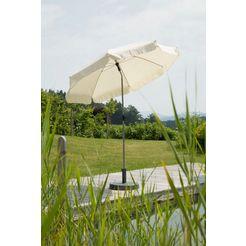 schneider parasols parasol »locarno«, 160 g - m², rond, zonder paraplustandaard beige