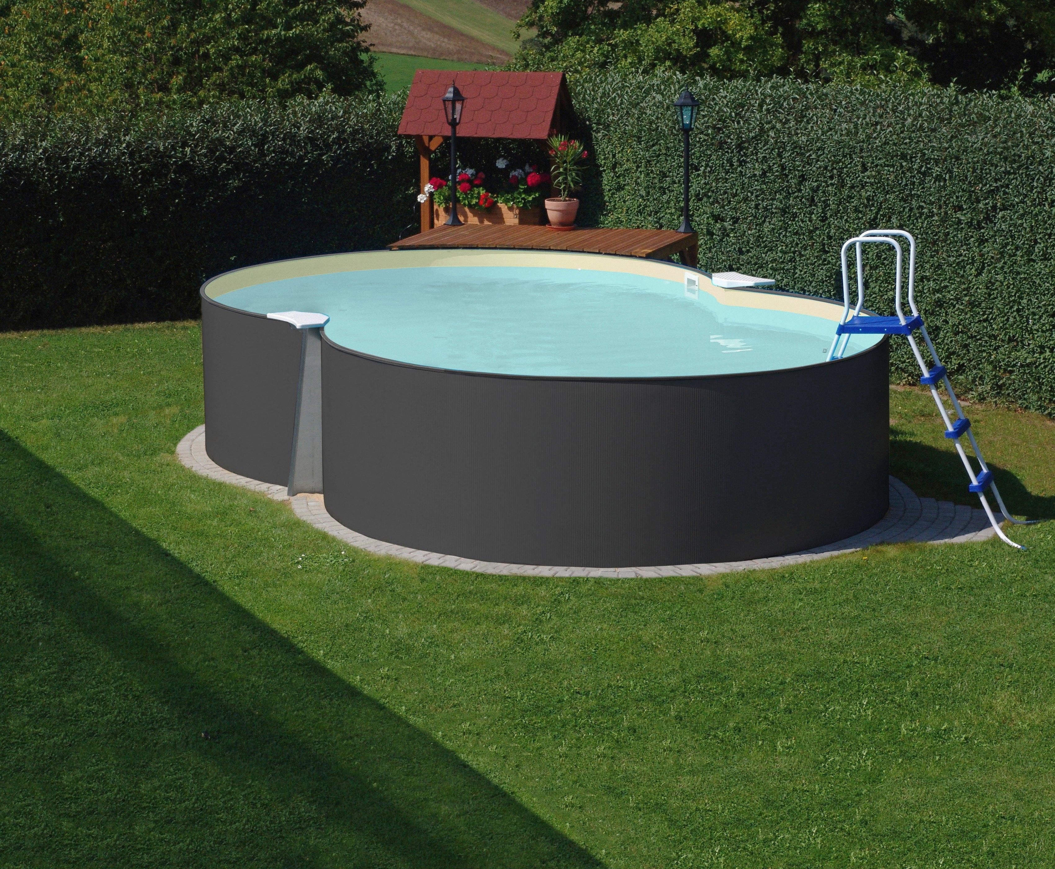 Hanseatic achtvormig zwembad 8 vormig zwembad antraciet for Pool bestellen