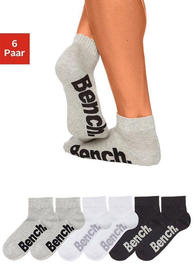 BENCH sneakersokken (3 paar) met comfortabele ribboord