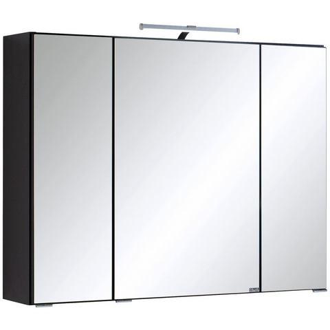 HELD MÖBEL kast Texas grijze badkamer spiegelkast 46