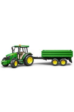 bruder tractor met aanhanger, »john deere 5115m met aanhanger met wanden« groen