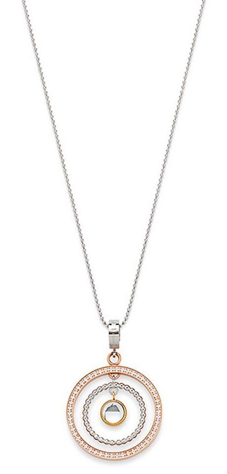 JEWELS BY LEONARDO halsketting: ketting met hanger met glassteentjes »tricolori 015702«
