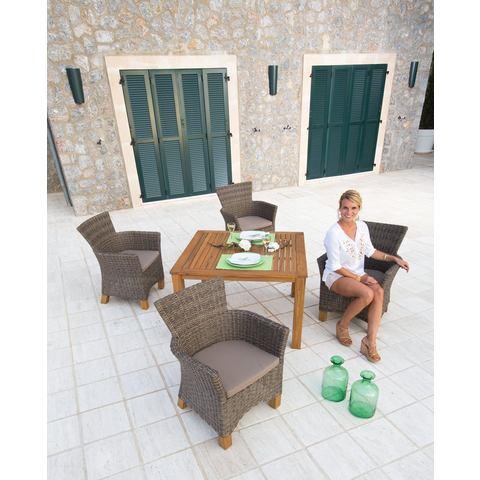 Tuinmeubelset Toscane, 9-dlg., 4 stoelen, tafel 110x100 cm