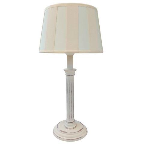 Tafellamp met lampenkap van textielmateriaal