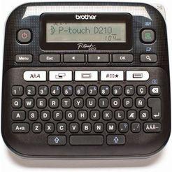 brother labelprinter »p-touch d210 desktop« zwart